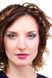 Closeup portrait of attractive caucasian woman Royalty Free Stock Photo