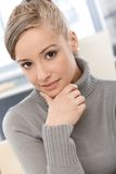 Closeup portrait of attractive girl Royalty Free Stock Photography