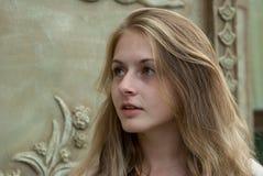 Closeup portrait of attractive girl outdoor Stock Photo