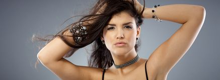 Closeup portrait of attractive hot woman Royalty Free Stock Photo