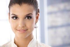 Closeup portrait of attractive smiling girl Stock Photo