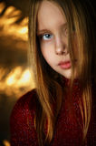 Closeup portrait of attractive smiling little girl Royalty Free Stock Photos