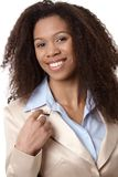Closeup portrait of attractive smiling woman Royalty Free Stock Images