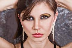 Beautiful female portrait stock photography