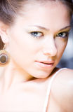 Closeup portrait of attractive young attractive wo Royalty Free Stock Photo