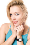 Closeup portrait of attractive young blonde Royalty Free Stock Photo