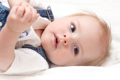Closeup portrait  baby Royalty Free Stock Photo