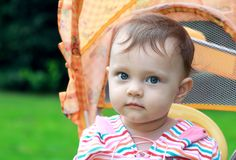 Closeup portrait of baby girl Stock Images