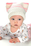 Closeup portrait of beautiful baby Stock Images