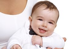 Closeup portrait of beautiful baby boy Royalty Free Stock Image