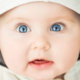 Closeup portrait of beautiful baby Royalty Free Stock Images
