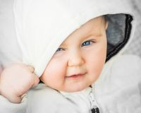 Closeup portrait of beautiful baby Royalty Free Stock Photos