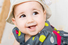 Closeup portrait of beautiful baby girl Royalty Free Stock Images