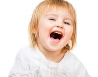 Closeup portrait of beautiful baby Stock Photography
