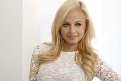 Closeup portrait of beautiful blonde woman Royalty Free Stock Photo