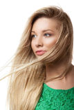 Portrait of beautiful blonde woman Stock Image