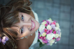 Closeup portrait of beautiful bride - soft focus Stock Images