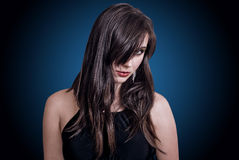 Fashion portrait brunette royalty free stock photos
