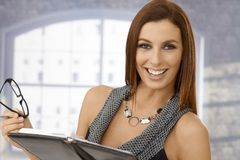 Closeup portrait of beautiful businesswoman Royalty Free Stock Images