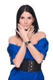 Closeup portrait of beautiful fashion woman Royalty Free Stock Images