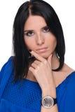 Closeup portrait of beautiful fashion woman Stock Photos