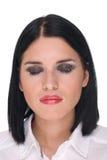 Closeup portrait of beautiful fashion woman Stock Image