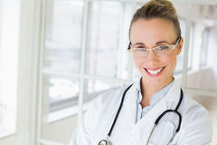 Closeup portrait of a beautiful female doctor Royalty Free Stock Image