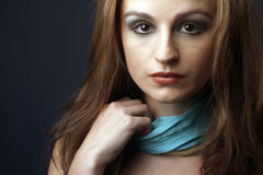 Closeup portrait of beautiful female model 2 Royalty Free Stock Photo