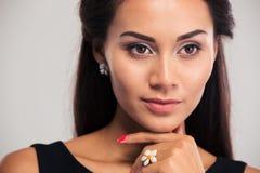 Closeup portrait of a beautiful female model Royalty Free Stock Photo