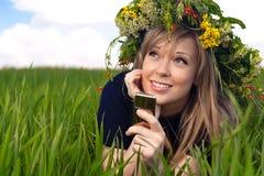 Closeup portrait of a beautiful girl Stock Photos