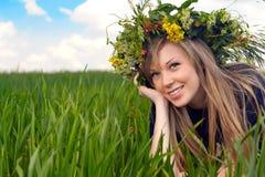 Closeup portrait of a beautiful girl stock images