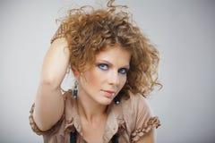 Closeup portrait of beautiful girl with makeup Royalty Free Stock Photo