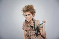 Closeup portrait of beautiful girl with makeup Royalty Free Stock Photos