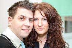 Closeup portrait of beautiful happy couple Royalty Free Stock Photo