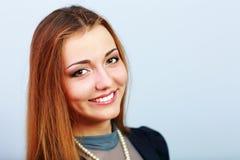 Closeup portrait of a beautiful happy woman Stock Image