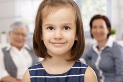Closeup portrait of beautiful little girl Royalty Free Stock Images