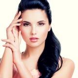 Closeup portrait of the beautiful sensual woman. Royalty Free Stock Image