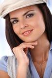 Closeup portrait of beautiful smiling woman Stock Photos