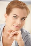 Closeup portrait of beautiful woman Stock Images