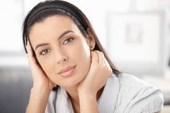 Closeup portrait of beautiful woman Royalty Free Stock Images
