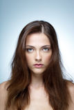 Closeup portrait of a beautiful woman Royalty Free Stock Photography