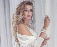 Closeup portrait of beautiful woman Stock Photography