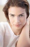 Closeup portrait of beautiful woman smiling Stock Photos