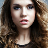 Closeup portrait of a beautiful woman Royalty Free Stock Photo