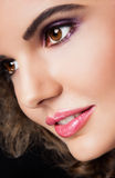 Closeup portrait with beautiful women Royalty Free Stock Images