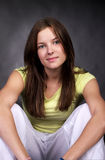 Closeup portrait of beautiful young Royalty Free Stock Photos
