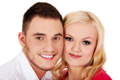 Closeup portrait of  beautiful young couple Stock Photo