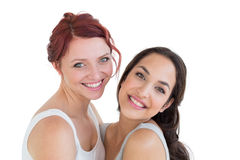 Closeup portrait of beautiful young female friends Stock Photography