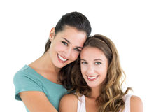 Closeup portrait of beautiful young female friends Stock Image