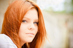Closeup portrait of beautiful young girl Stock Photography
